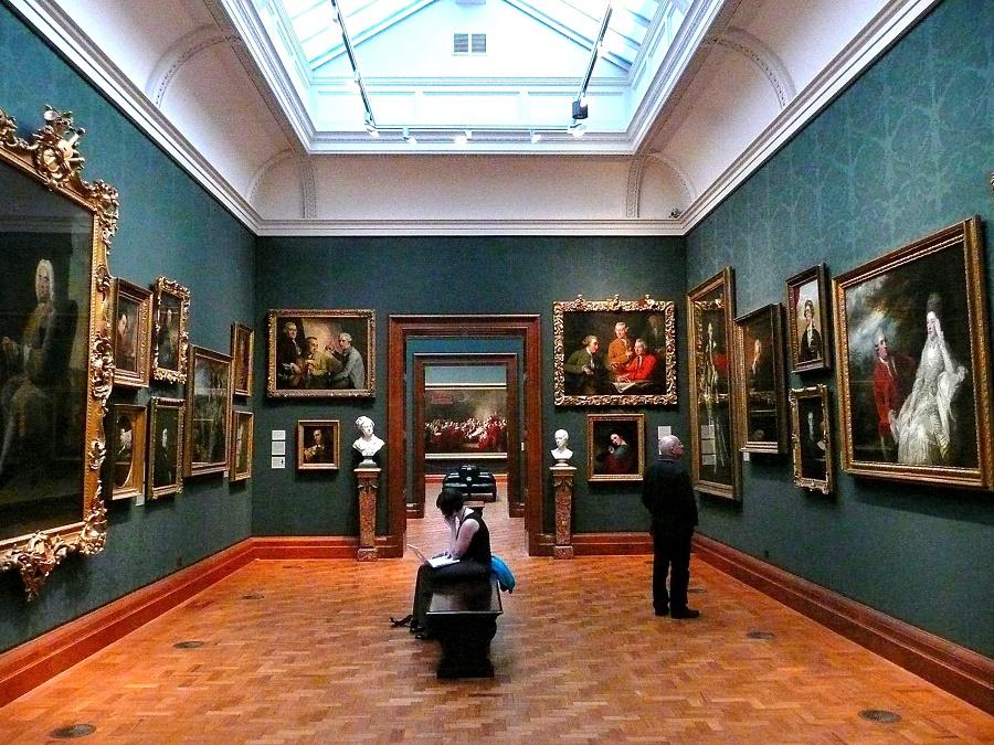 Interior da National Gallery em Londres