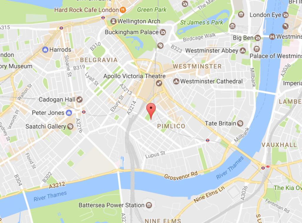 Onde Ficar em Londres: Mapa