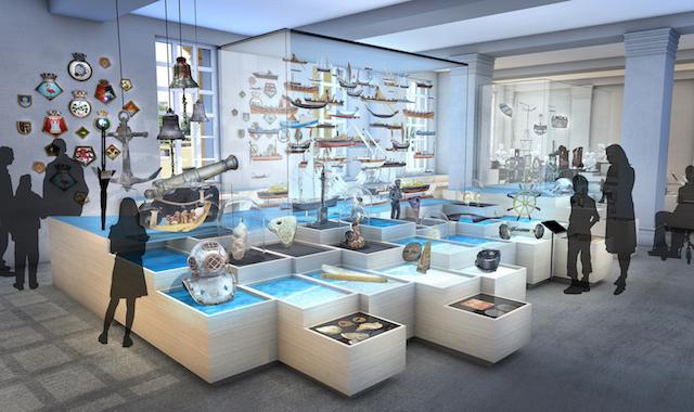 Interior Museu Nacional Marítimo em Londres