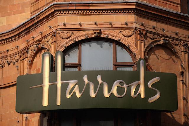 Fachada da Harrods em Londres