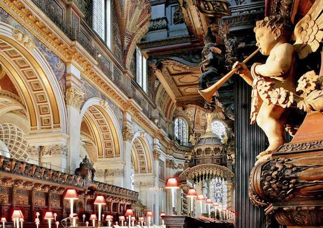 Interior Catedral de São Paulo em Londres