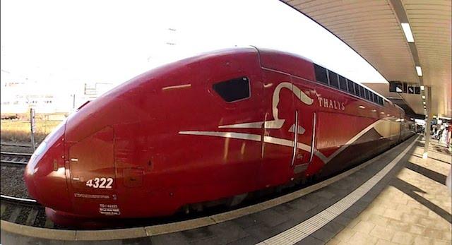 Trem Thalyes em Duesseldorf Hbf
