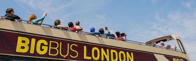 Andar de cima do Big Bus London