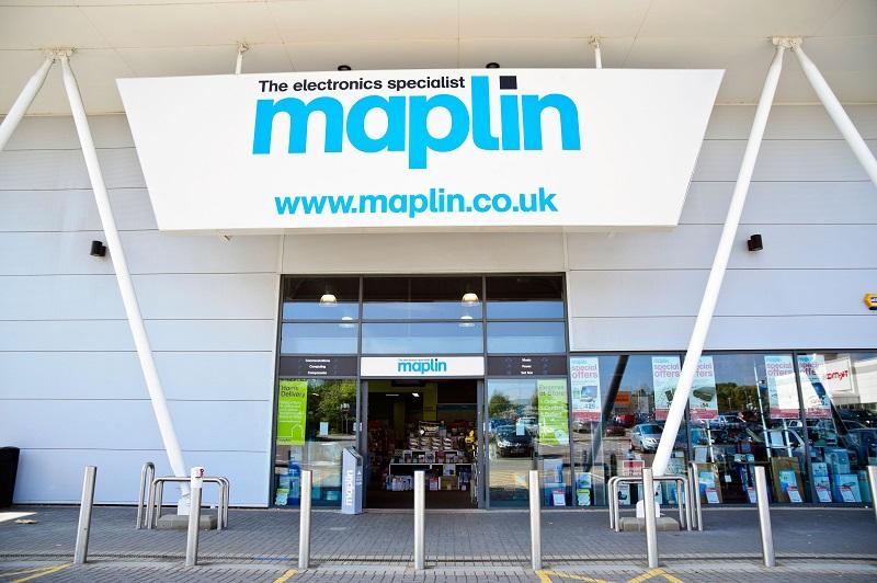 Compras na loja Maplin em Londres
