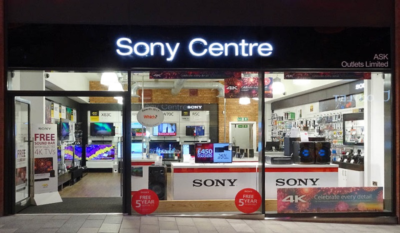Compras nas lojas Sony em Londres