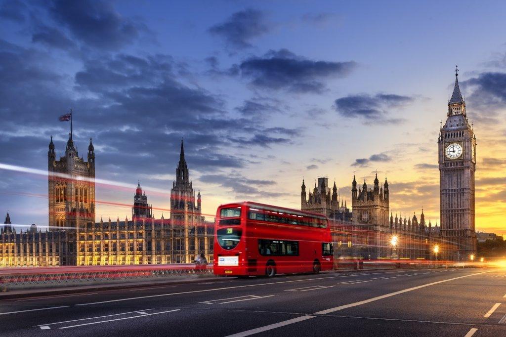 Fim de dia em Londres