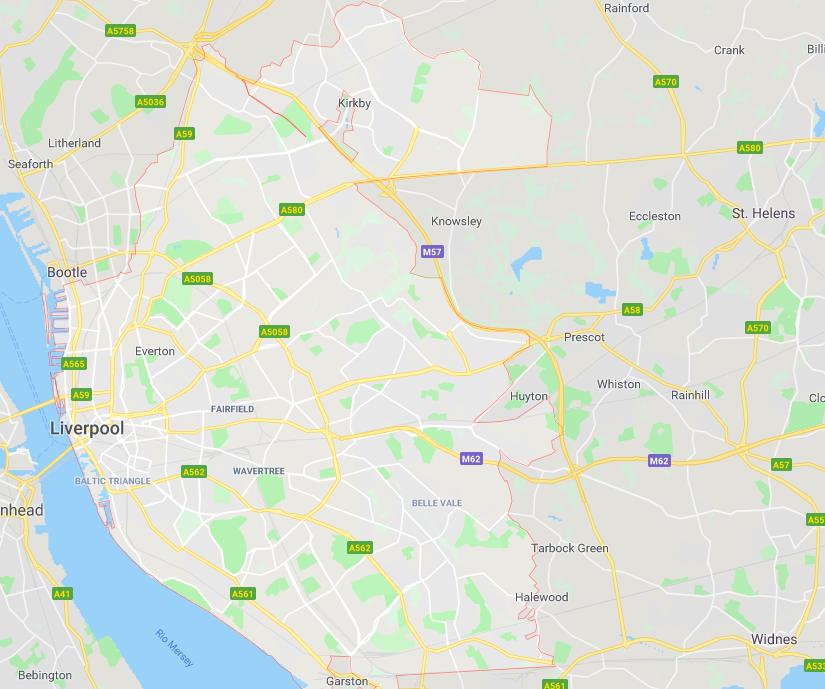 Onde ficar em Liverpool: mapa