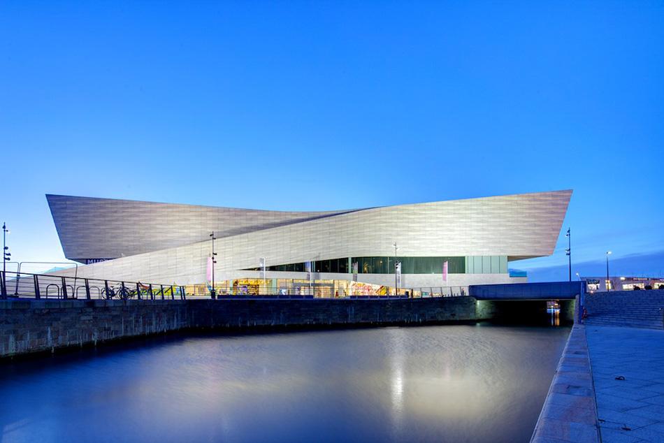 Museu de Liverpool à noite