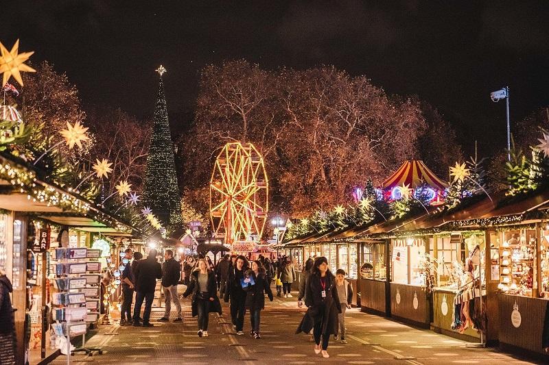 Mercado de Natal em Londres