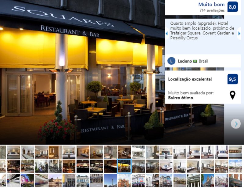 Hotel Thistle Trafalgar, Leicester Square em Londres