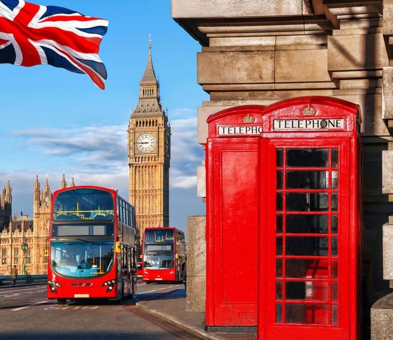 Telefone em Londres e Big Ben