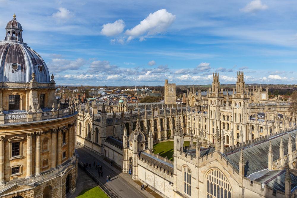 Vista aérea de Oxford