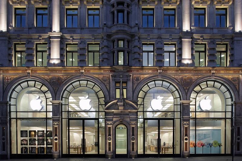 Fachada da loja Apple da Regent Street