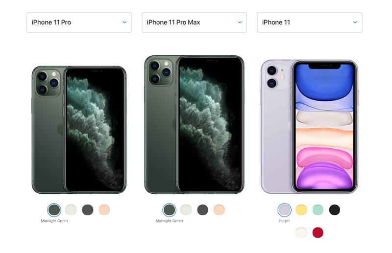 iPhone 11, 11 Pro e 11 Pro Max: cores e diferenças