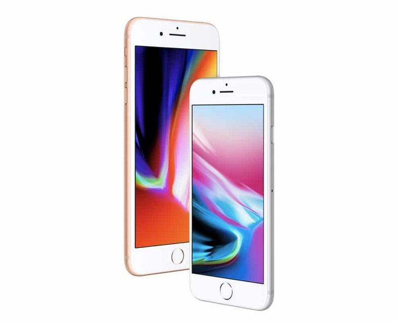 Modelo branco do iPhone 8