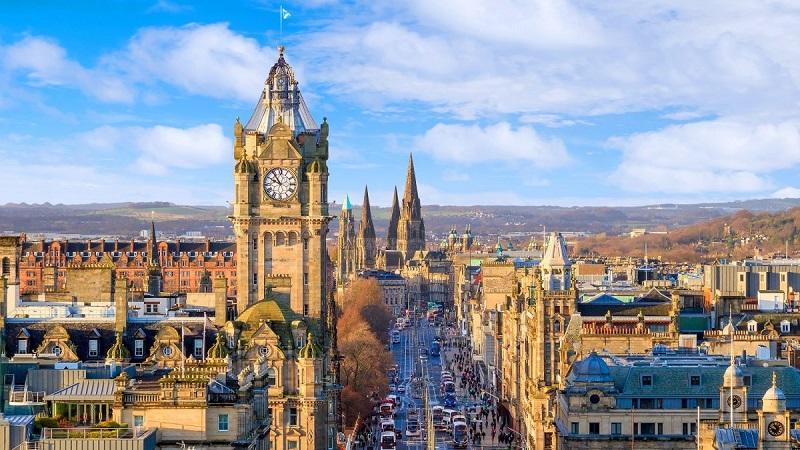 Edimburgo, na Escócia