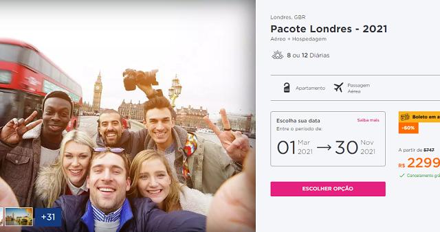 Pacote Hurb para Londres por R$ 4.339
