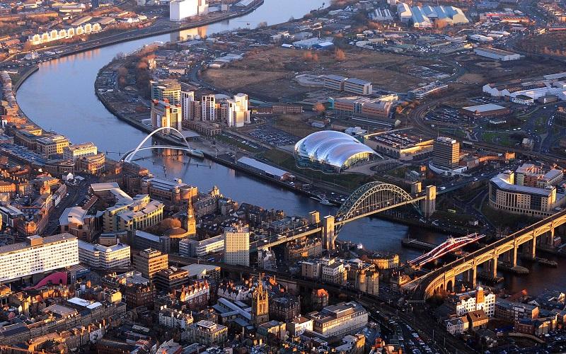 Vista aérea de Newcastle